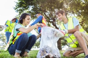 Environmental public relations can help coordinate a community clean up event.