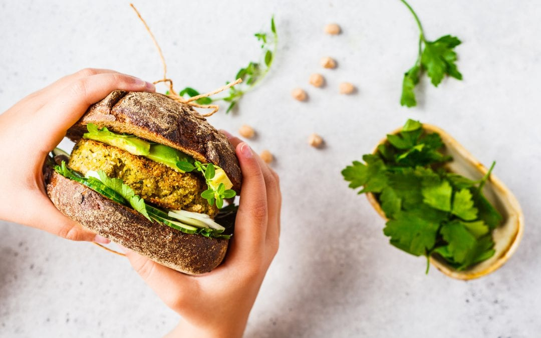 Plant-based brand showcasing new sandwich
