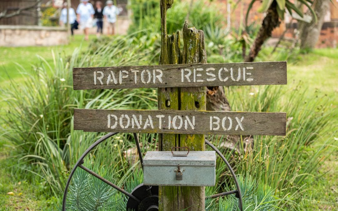 A box for collecting donations at a bird sanctuary.