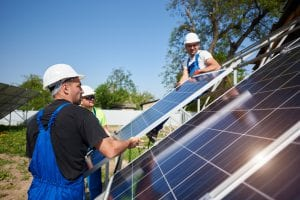 installing green tech solar panel