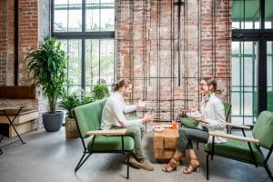 Sustainable office shows a commitment to the environment.